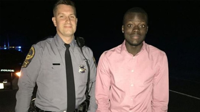 White State Trooper Helps Black Man
