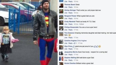 Little girl worries about going to school dressed as Batman, hero dad has perfect solution