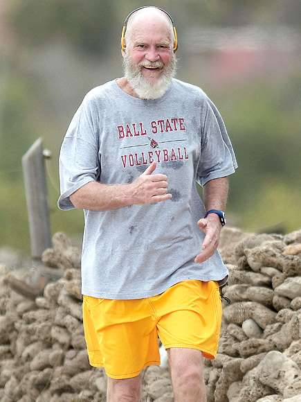 David Letterman's Retirement Look Now Includes a Naked Noggin