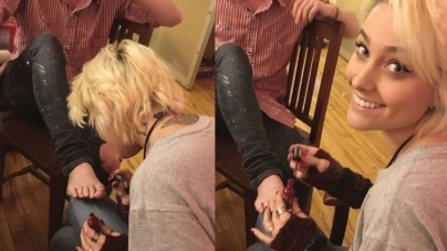 Paris Jackson Gives Her 'Hipster' Godfather Macaulay Culkin a Pedicure