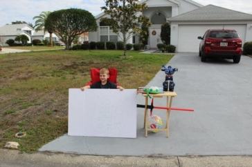 Little Boy Gives Away His Toys At Special 'Lemonade Stand'