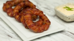 Bacon-Wrapped Onion Rings Is The Low-Carb Side Dish Recipe You Never Knew You Needed